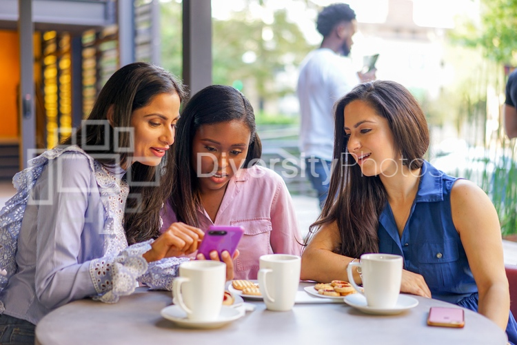 Diverse Friends at Cafe