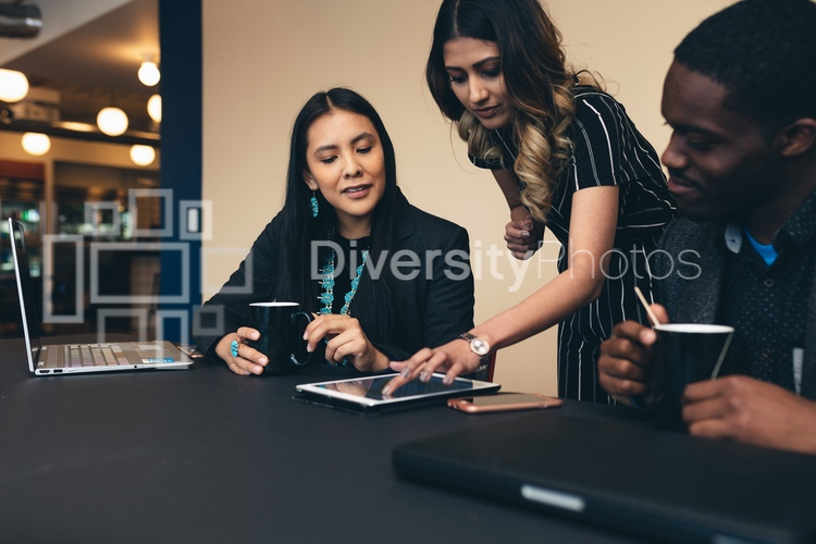 diverse coworkers