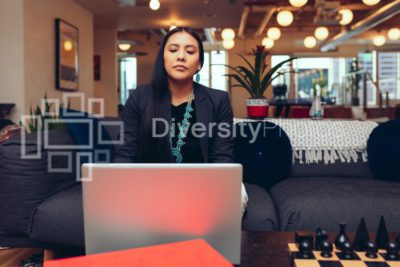 Native American Woman on Laptop