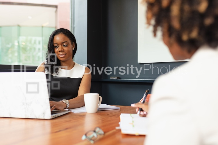 Group of diverse black people in a meeting