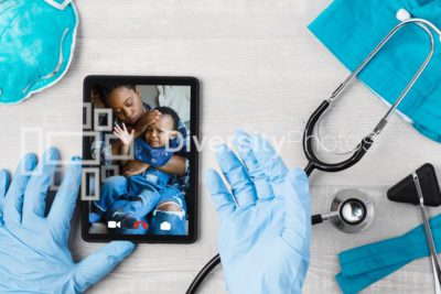 Black diverse telehealth call