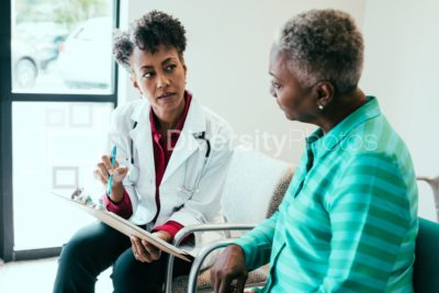 Doctor consulting medical patient
